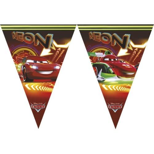 Cars Neon flag banner