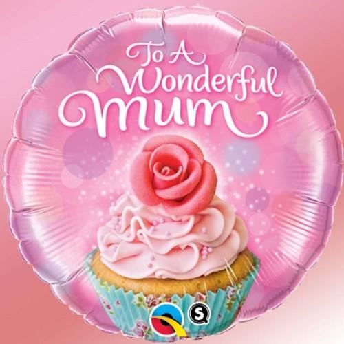 To a wonderful mum cupcake - foil balloon