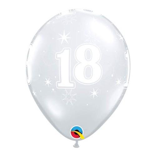 Balloon 18 Sparkle - diamond clear
