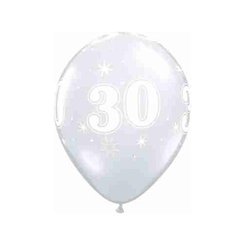 Balloon 30 Sparkle - diamond clear
