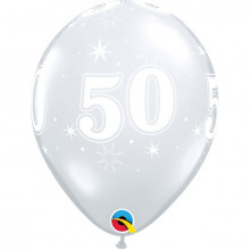 Ballon 50 Sparkle -  - durchsihtig