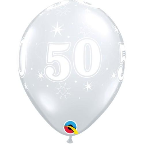 Balloon 50 Sparkle -  - diamond clear