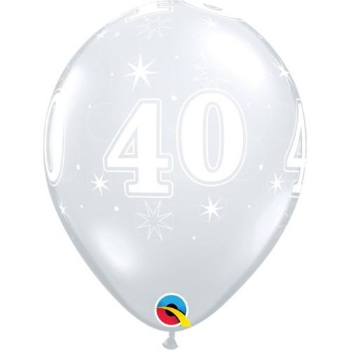 Balloon 40 Sparkle - diamond clear