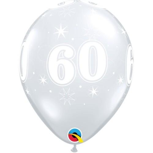 Balloon 60 Sparkle - diamond clear