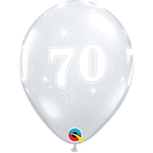 Balloon 70 Sparkle - diamond clear