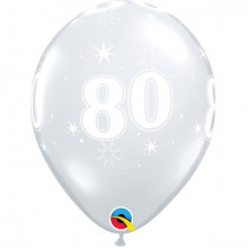 Ballon 80 Sparkle - durchsihtig