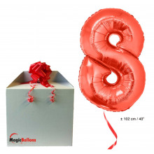 Foil balloon number 8 - red