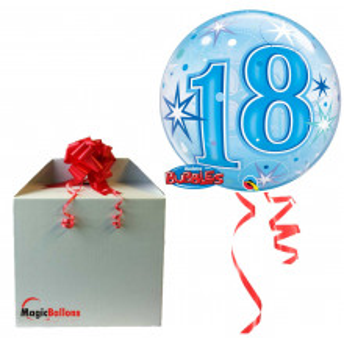 18 Blue Starbust Sparkle - B.Ballon in Paket