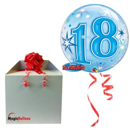 18 Blue Starbust Sparkle - b.balon u paketu