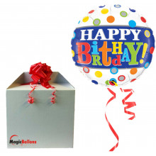 Bday Band & Dots - foil balloon in a package