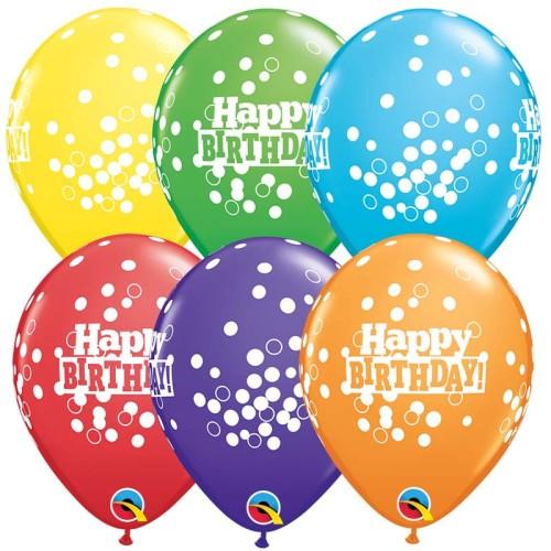 Balon Bday Confetti dots