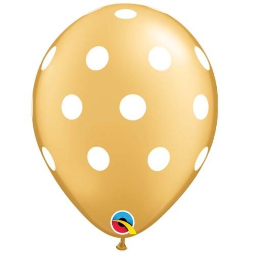 Balloon Big Polka dot - gold