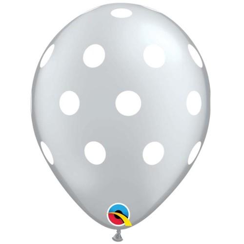 Balloon Big Polka dot - silver