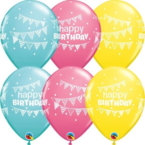 Balloon Bday pennants & Dots