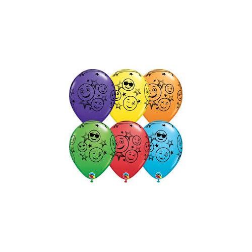 Balon Smiley Stars