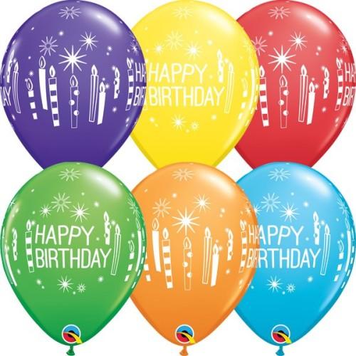 Balloon Bday candles & Starbursts