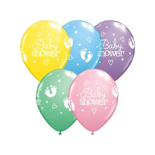 Ballon Baby Shower Footprints & Hearts