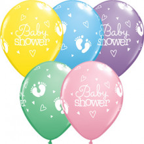 Balon Baby Shower Footprints & Hearts
