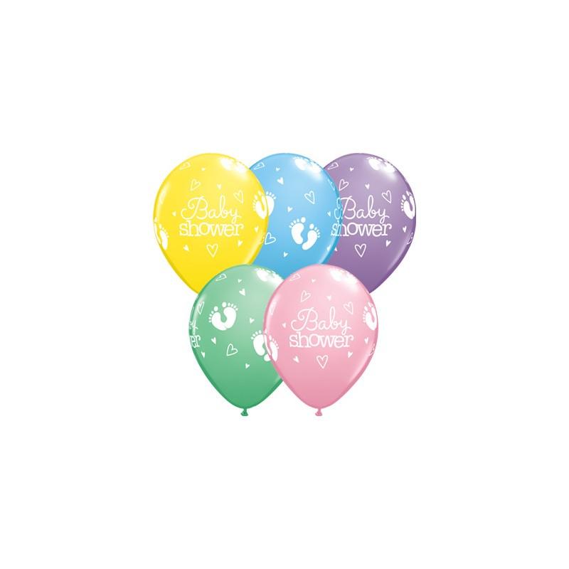 Balloon Baby Shower Footprints & Hearts