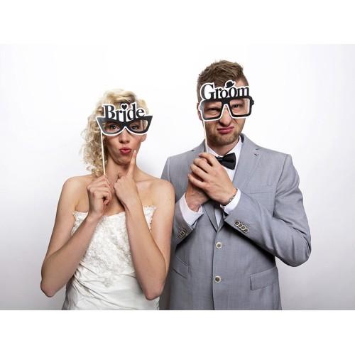 Bride & Groom inscriptions on sticks