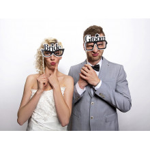 Bride & Groom napis na palčkah