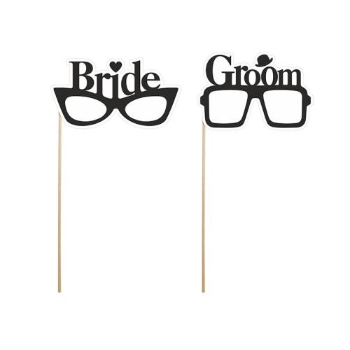 Bride & Groom napis na štapićima