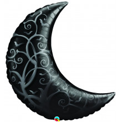 Balon  Black Gothic Crescent Moon
