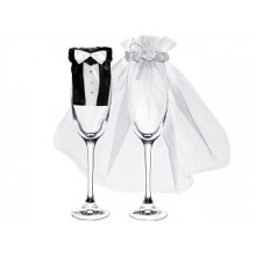 Poročni komplet za kozarce