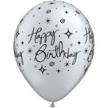 Balloon Bday Elegant Sparkles & Swirls
