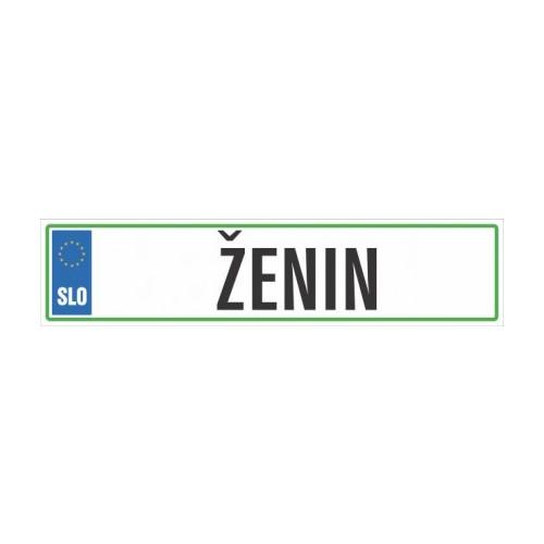 Avtomobilska tablica ŽENIN