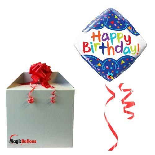 Bday Scribble Confetti  - Folienballon in Paket