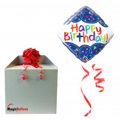 Bday Scribble Confetti - folija balon v paketu