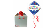 Bday Scribble Confetti - foil balloon in a package