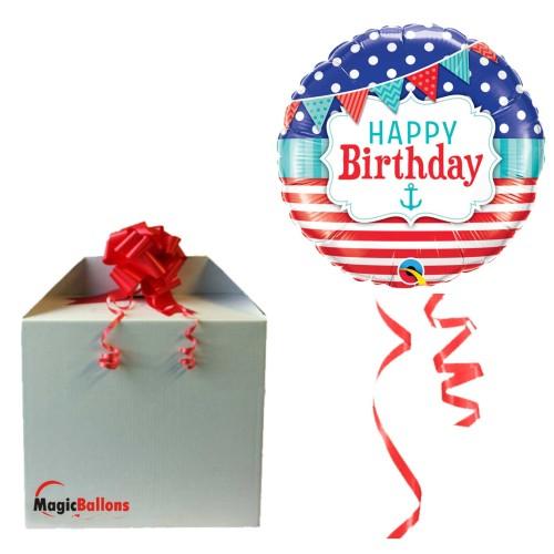 Bday Nutical & Pennants - Folienballon in Paket