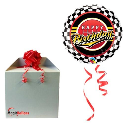 Bday Checked Pattern - folija balon v paketu