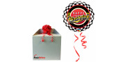Bday Checked Pattern - foil balloon in a package