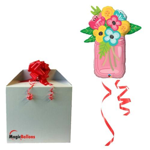 Mason Jar Bouquet - foil balloon in a package