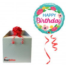 Bday Petite Polka Dots - foil balloon in a package