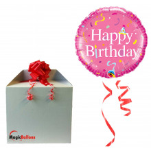 Bday Bday Pink - foil balloon in a package