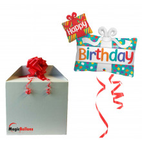 Happy Bday Presents - Folienballon in Paket