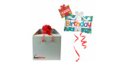 Happy Bday Presents - foil balloon in a package