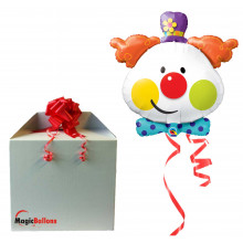 Cute Clown - foil balloon in a package