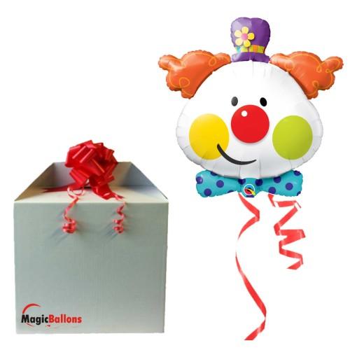 Srčkan klovn - folija balon v paketu
