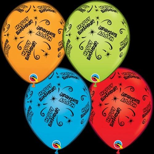 Colurful Happy Birthday  light up balloon