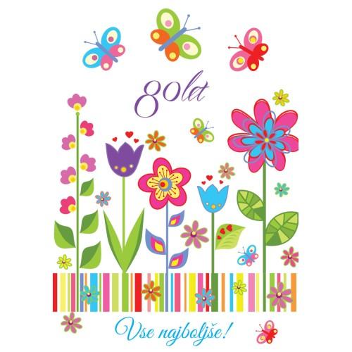 Greeting card vse najboljše 80