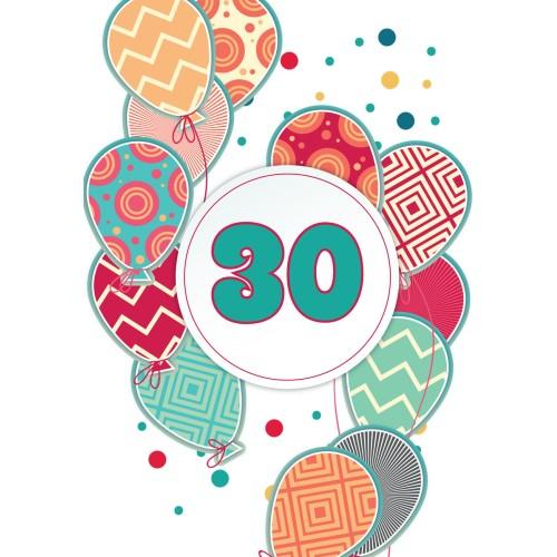Voščilnica vse najboljše 30