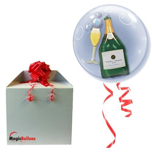 Bubbles Champagne- Ballon in Ballon