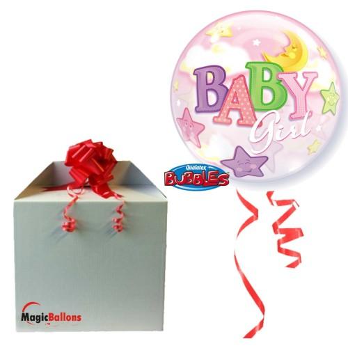 Baby Girl Moon & Stars -in the box