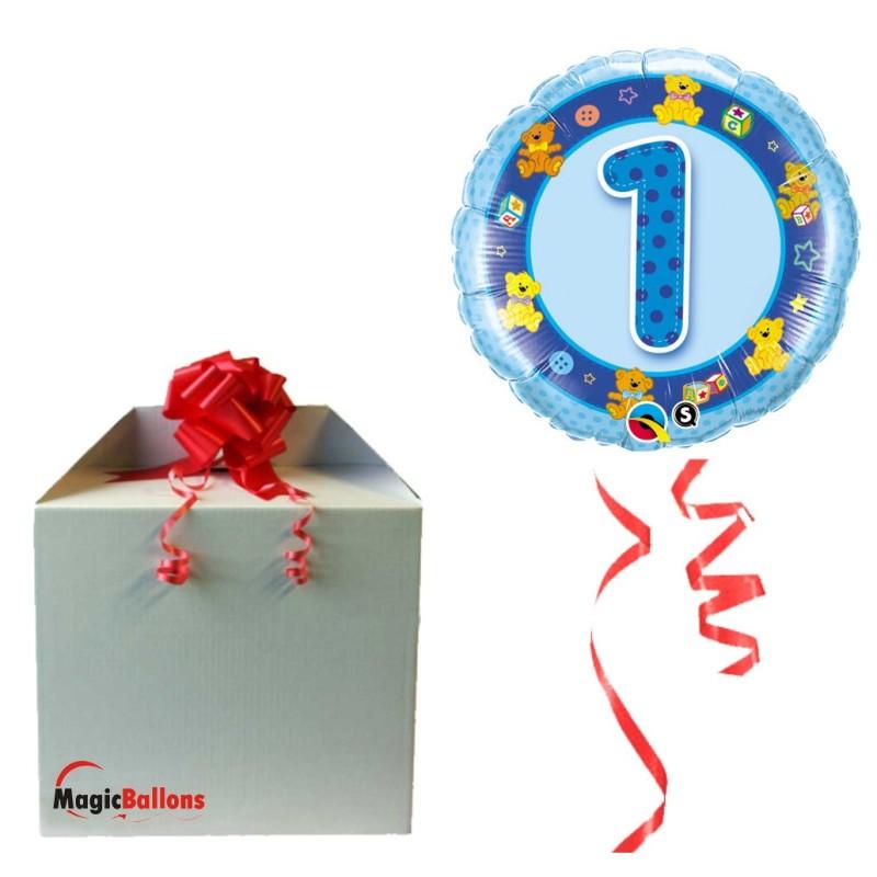 Balloon Age 1 Blue  Teddies