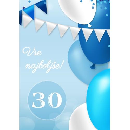 Greeting card vse najboljše 30